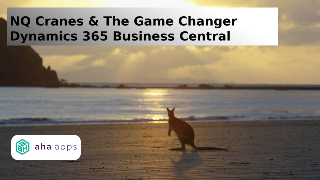 NQ Cranes & The Game Changer Dynamics 365 Business Central - AhaApps